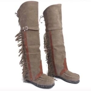Tall Moccasin Boots